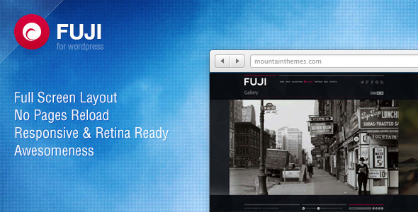 ThemeForest Fuji Full Screen Responsive & Retina Ready 4148595