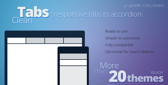 CodeCanyon Clean Tabs Responsive Tabs to Accordion 4148684