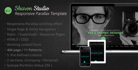Sharon Studio Responsive Parallax Scrolling