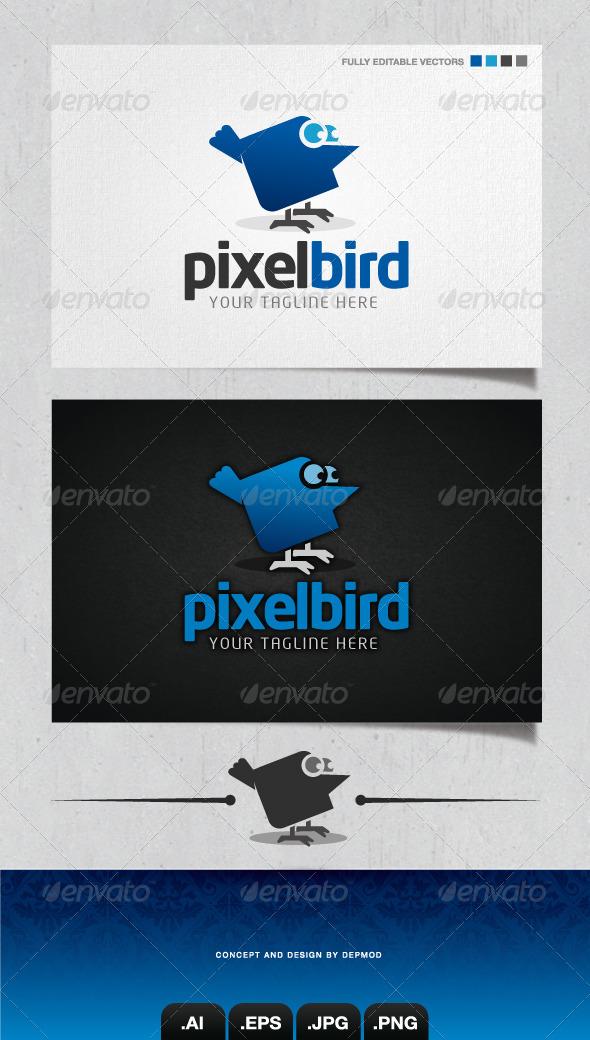 GraphicRiver Pixel Bird Logo 4148753