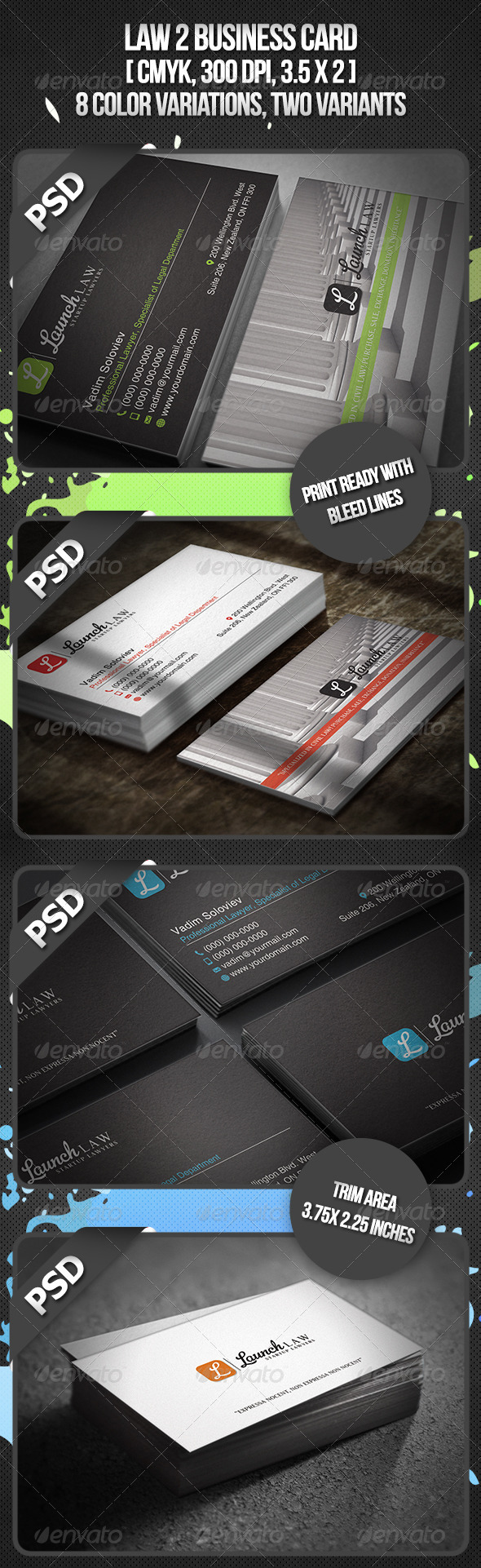 Law 2 Business Card - Creative Business Cards