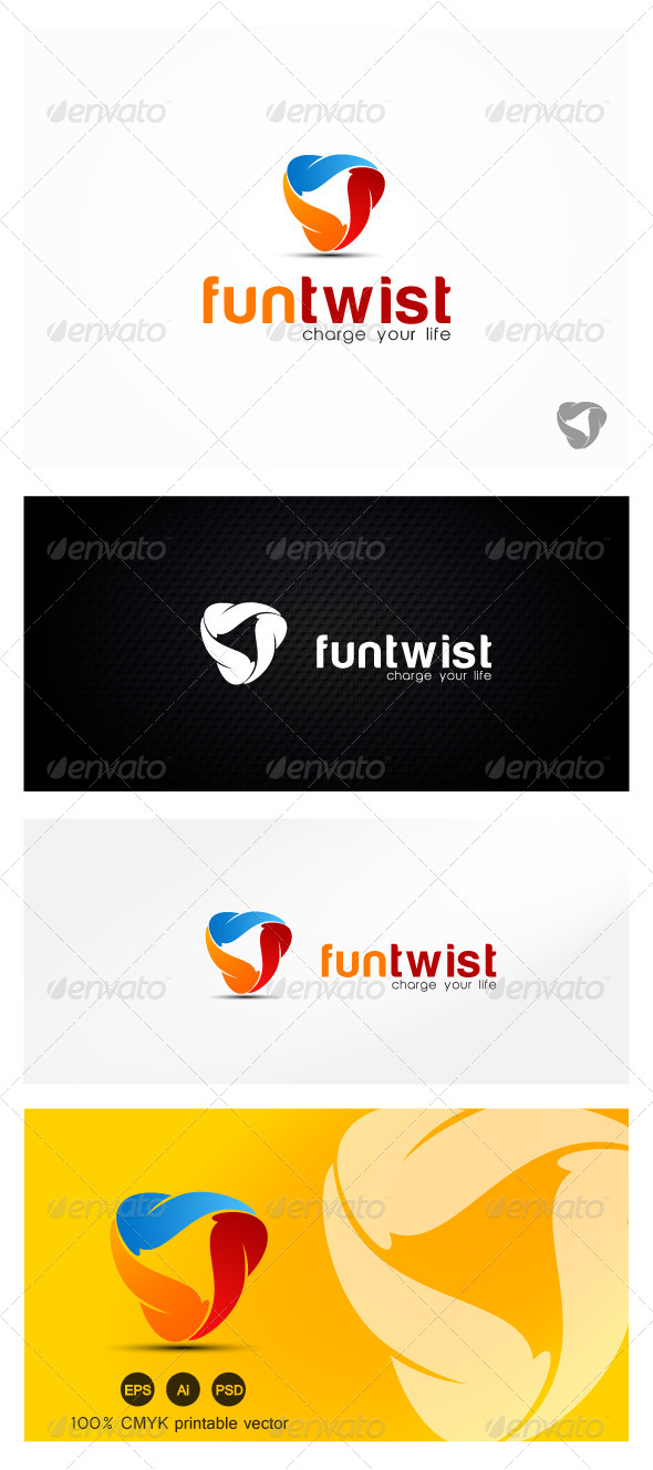 Fun Twist Logo - Vector Abstract