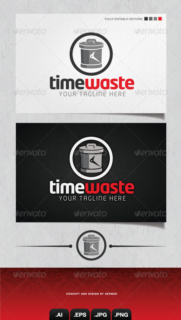 GraphicRiver Time Waste Logo 4148863