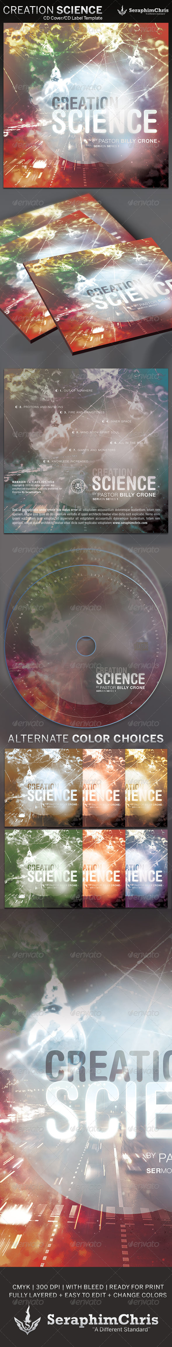 GraphicRiver Creation Science CD Cover Artwork Template 4148880