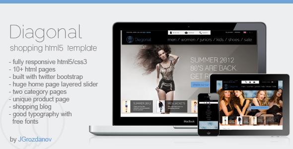 Diagonal - HTML5 Responsive Store Template