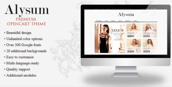 ThemeForest Alysum Premium OpenCart Theme with Extras 4142033