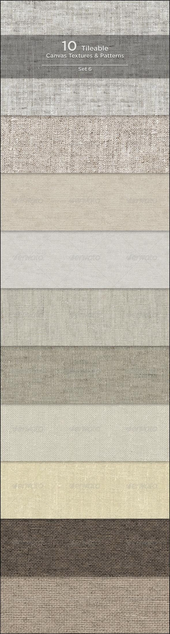 GraphicRiver 10 Tileable Canvas Textures Patterns 4149206