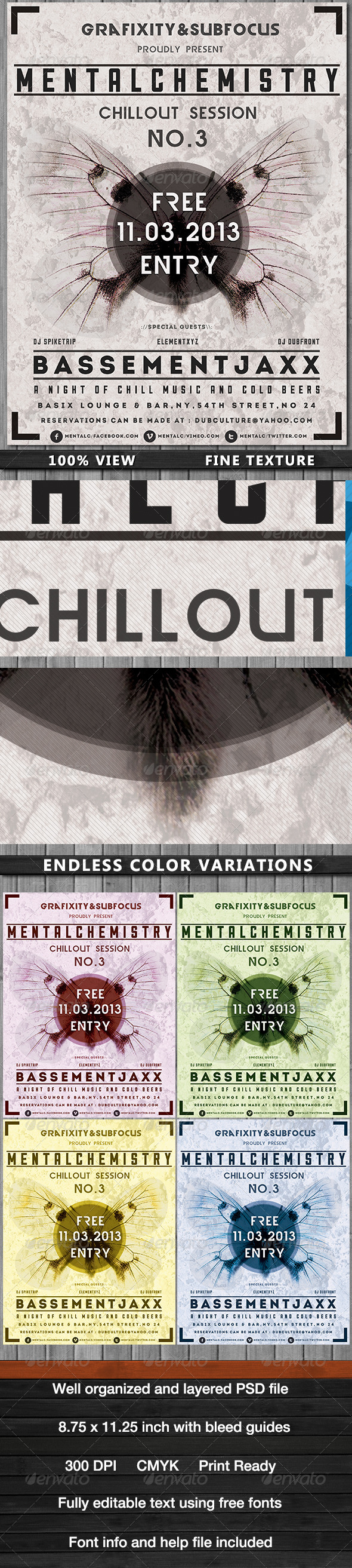 GraphicRiver MentalChemistry-Chillout Dub Poster 4021656