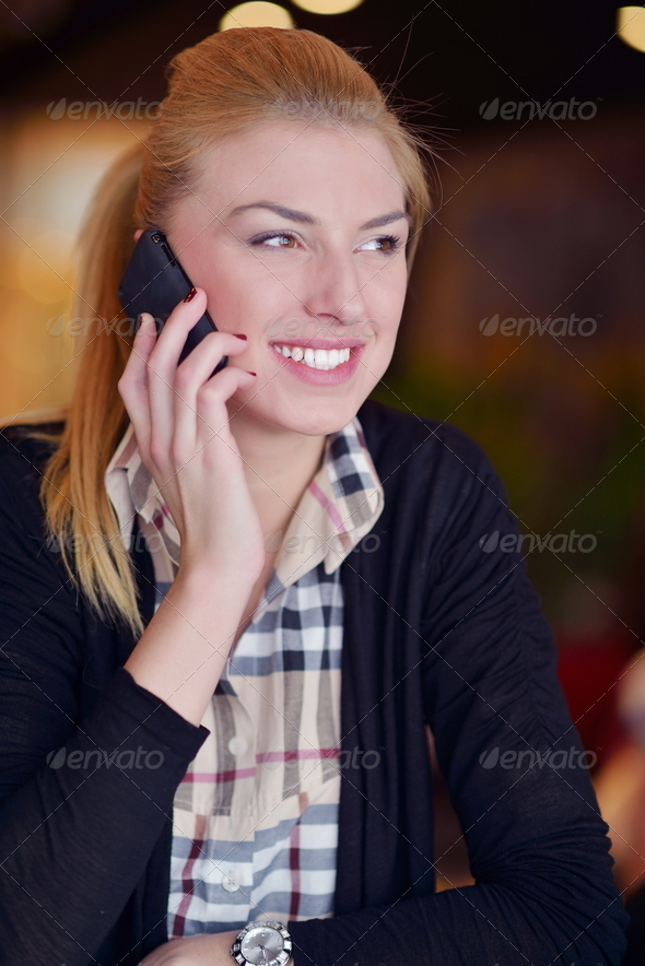 PhotoDune business woman talk by phone 4151202