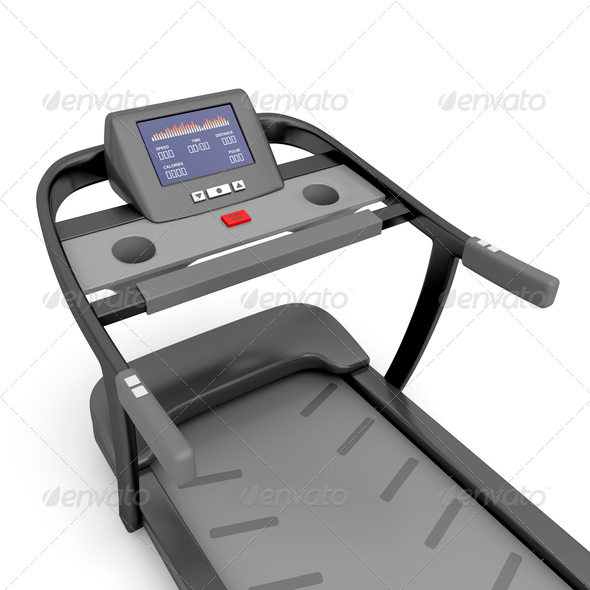 PhotoDune Close-up view of treadmill 4150266