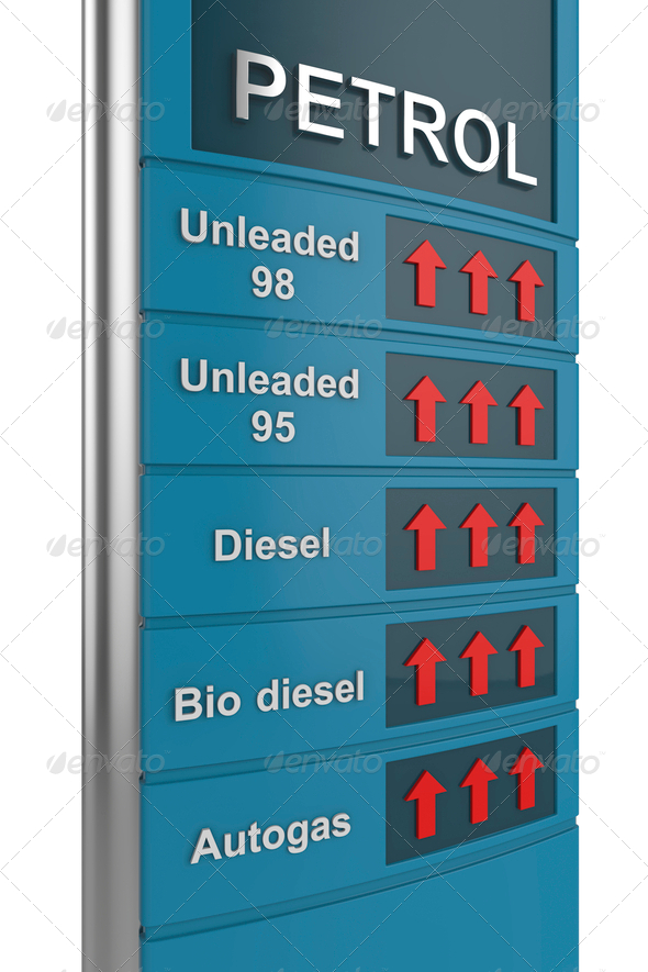 PhotoDune Petrol price rise 4150271