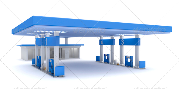 PhotoDune Petrol station 4150273