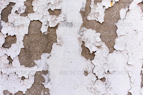 PhotoDune Faded white wall coating 4150258