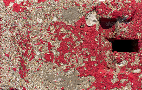 PhotoDune Red Concrete paint scratched 4150300