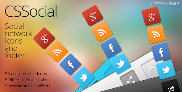 CSShare Social Media Icons/Footer - CodeCanyon Item for Sale
