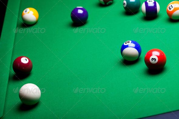 PhotoDune Close-up billiard balls 4166153