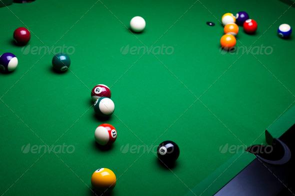 PhotoDune Billiard ball close up 4166096