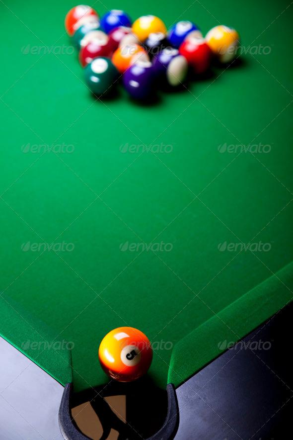 PhotoDune Billiard ball close up 4166109