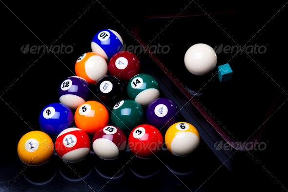 PhotoDune Billiard balls isolated on black 4166130