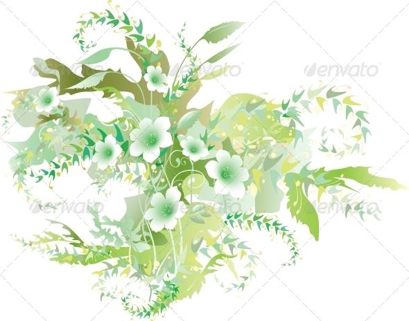 GraphicRiver Delicate Floral Verdure 4151548