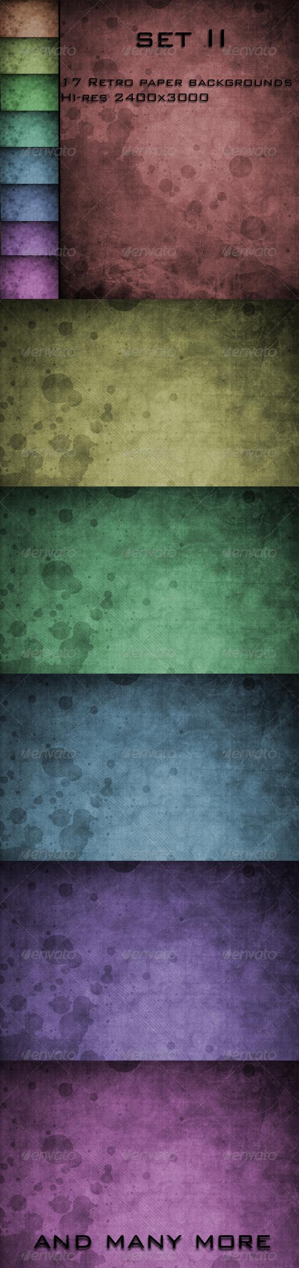 GraphicRiver 17 Retro Paper Backgrounds set I I 4151735