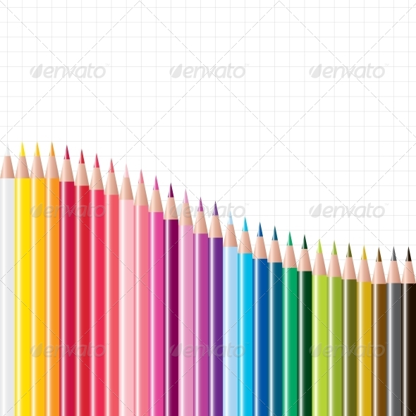 GraphicRiver Vector Set of Coloured Pencils 4151763