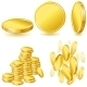 Collection of Gold Coins - GraphicRiver Item for Sale