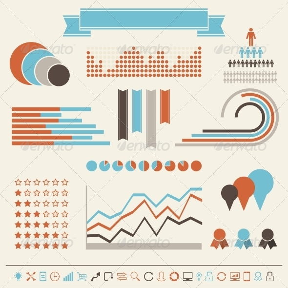 Vintage Styled Infographics Elements