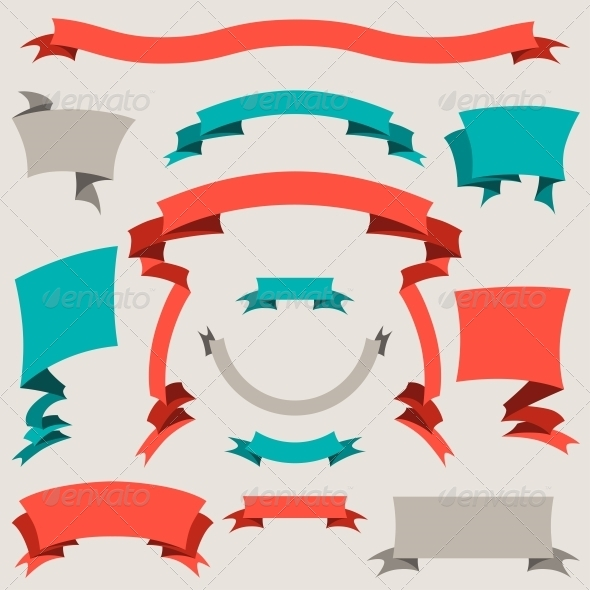 GraphicRiver Set of Retro Design Elements 4151898