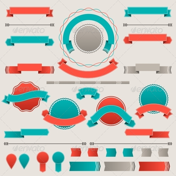 Set of Retro Design Elements