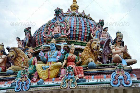 PhotoDune Gods and goddesses at Hindu temple Singapore 4152525