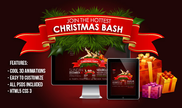 ThemeForest 3D Christmas Bash 4152787