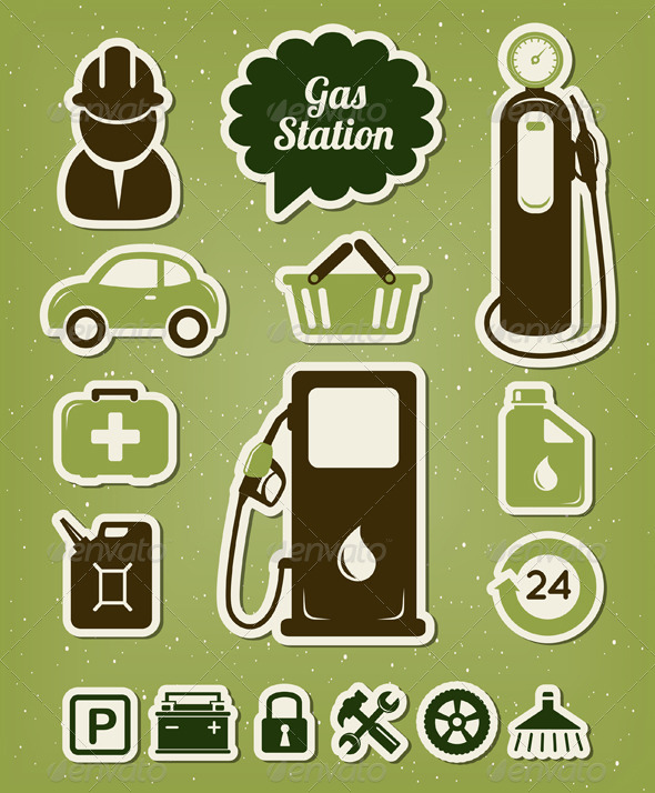 GraphicRiver Gas Station Icons Set 4152850