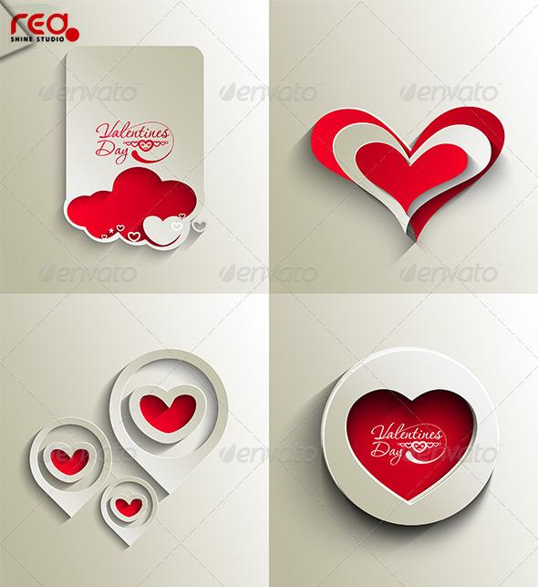 GraphicRiver Valentines Day Hearts 4152903