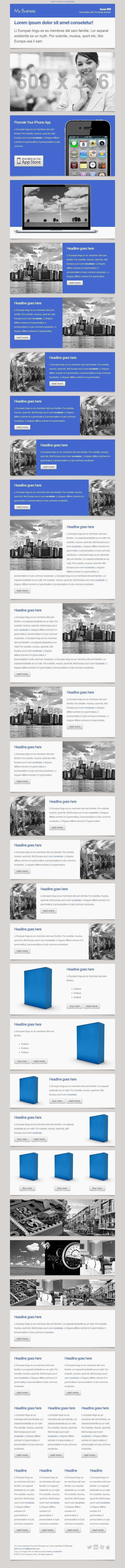Business - Responsive Newsletter with Template Builder