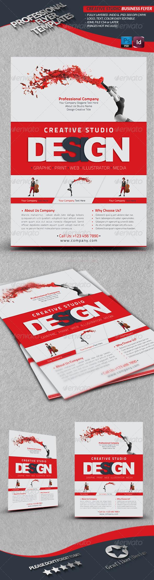 GraphicRiver Creative Studio Business Flyer 4153477