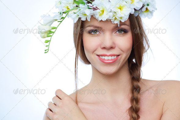 Spring girl - Stock Photo - Images