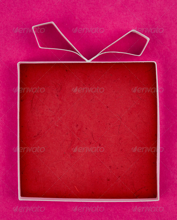 PhotoDune Hand made empty gift box textured paper as background Free spa 4154170