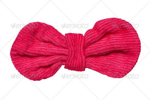 PhotoDune Red velvet bow isolated on white 4154173