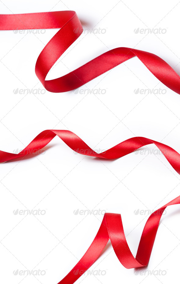 PhotoDune Collection of various red ribbons 4154176