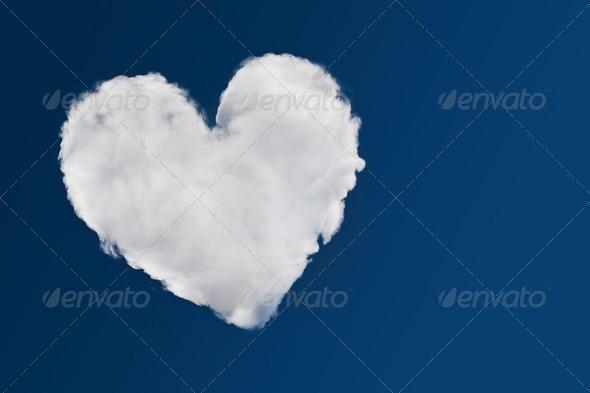 PhotoDune Heart shaped cloud symbol of love 4154182