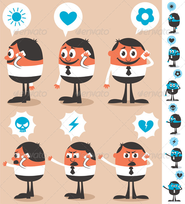 GraphicRiver Talking on Phone 4154399