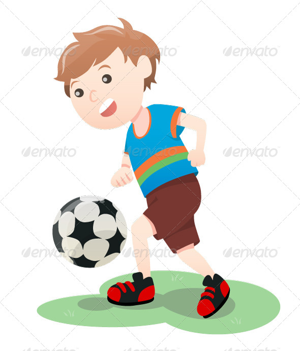 GraphicRiver Boy Playing Soccer 4154935