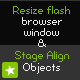 Resize and Align flash in browser window - ActiveDen Item for Sale