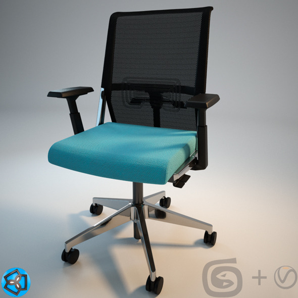 "Haworth ""System59"" Chair  +Scene+Materials - 3DOcean Item for Sale"