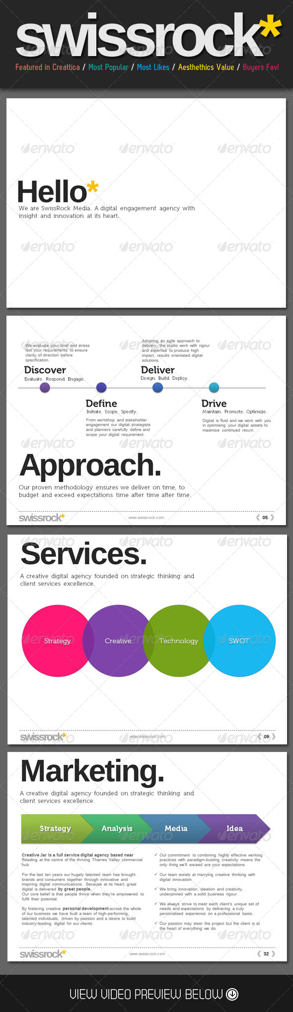 Swiss Style Rock PowerPoint Template - Business Powerpoint Templates