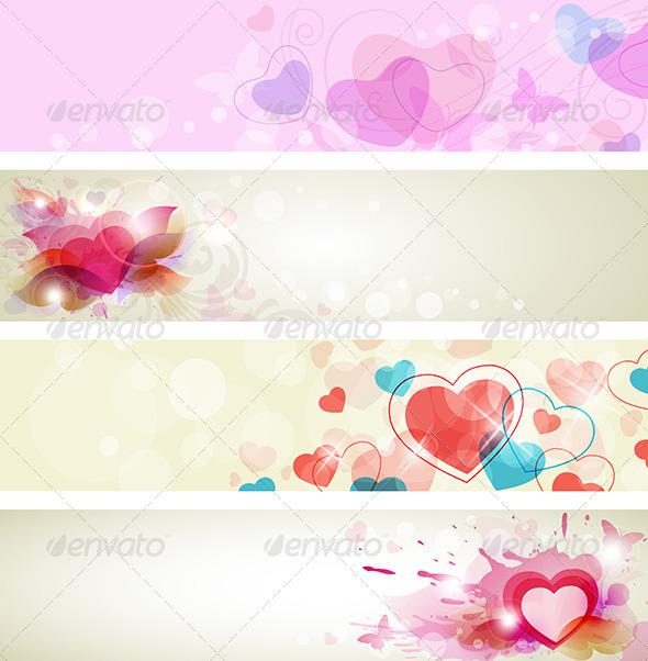 GraphicRiver Romantic Valentine Banners 4156214
