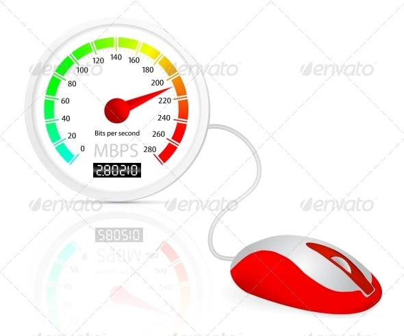 GraphicRiver Computer Mouse Connected To A Speedometer 4156221