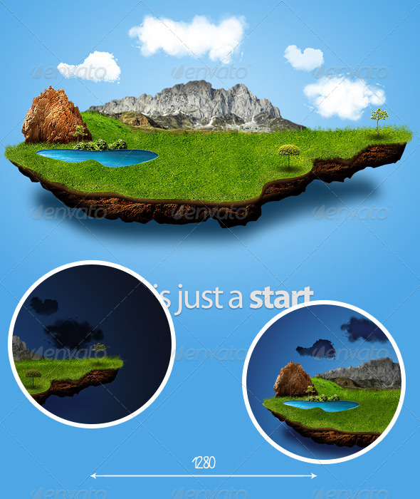 GraphicRiver 3D Nature Background 4156580