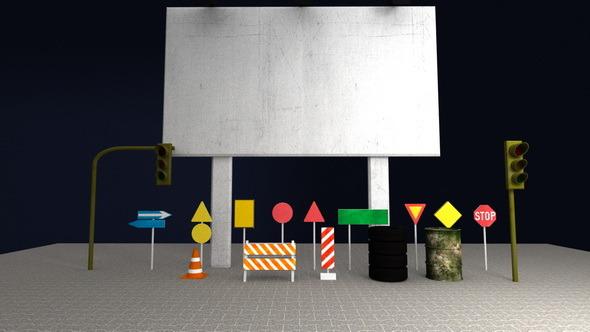 Racing Track Entourage Elements Pack - 3DOcean Item for Sale
